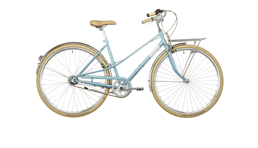Creme Caferacer Solo stadsfiets Dames 3-speed blauw